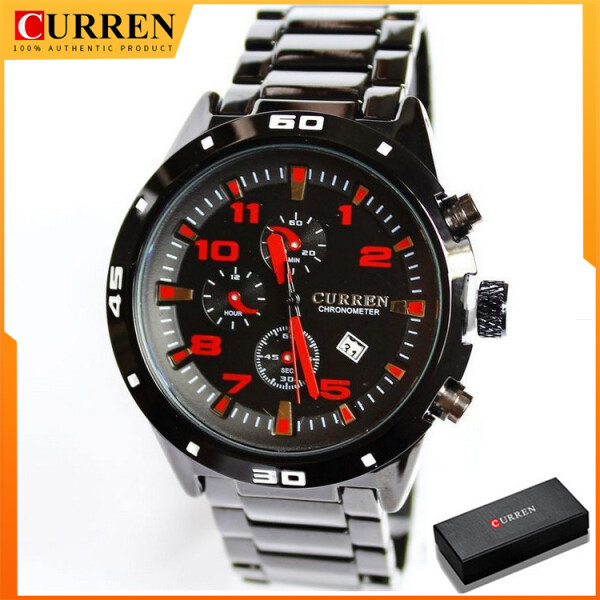 CURREN Mens Waterproof Watches Fashion&Casual Full Sports Watches Mens Business Quartz watch 8021 Malaysia