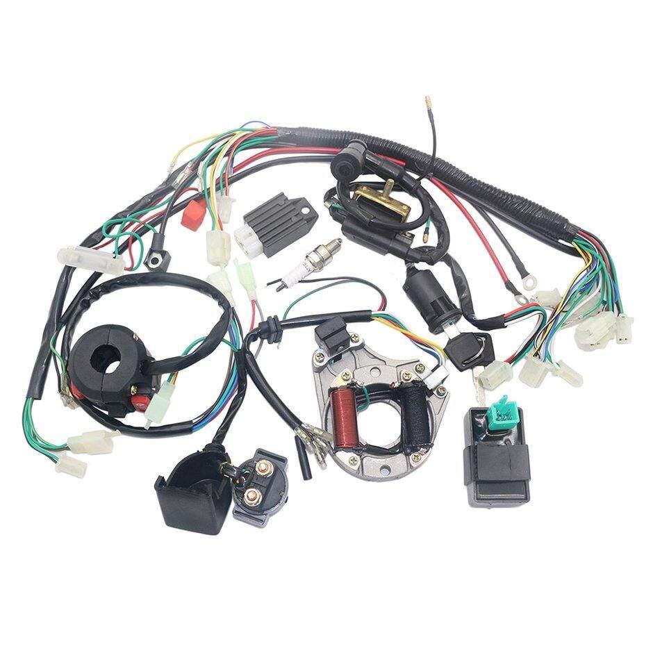 Elec Listrik Koil Pengapian CDI Tali Pegangan Kabel untuk 4 Stroke ATV KLX 50cc 70cc 110cc 125cc Sepeda Quad Go Kart Buggy Pit Sepeda Trail
