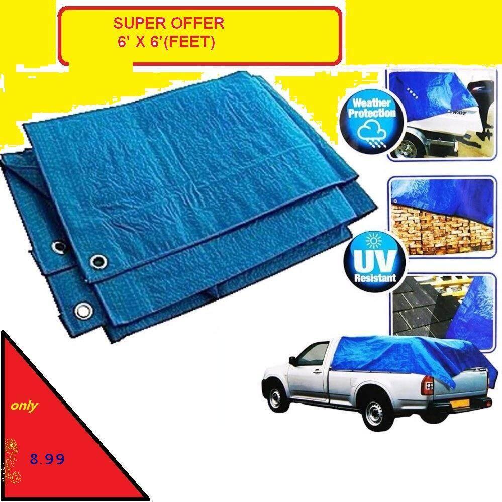 offer CANVAS BLUE/ORANGE (HEAVY DUTY) ~6feet x 6feet canve