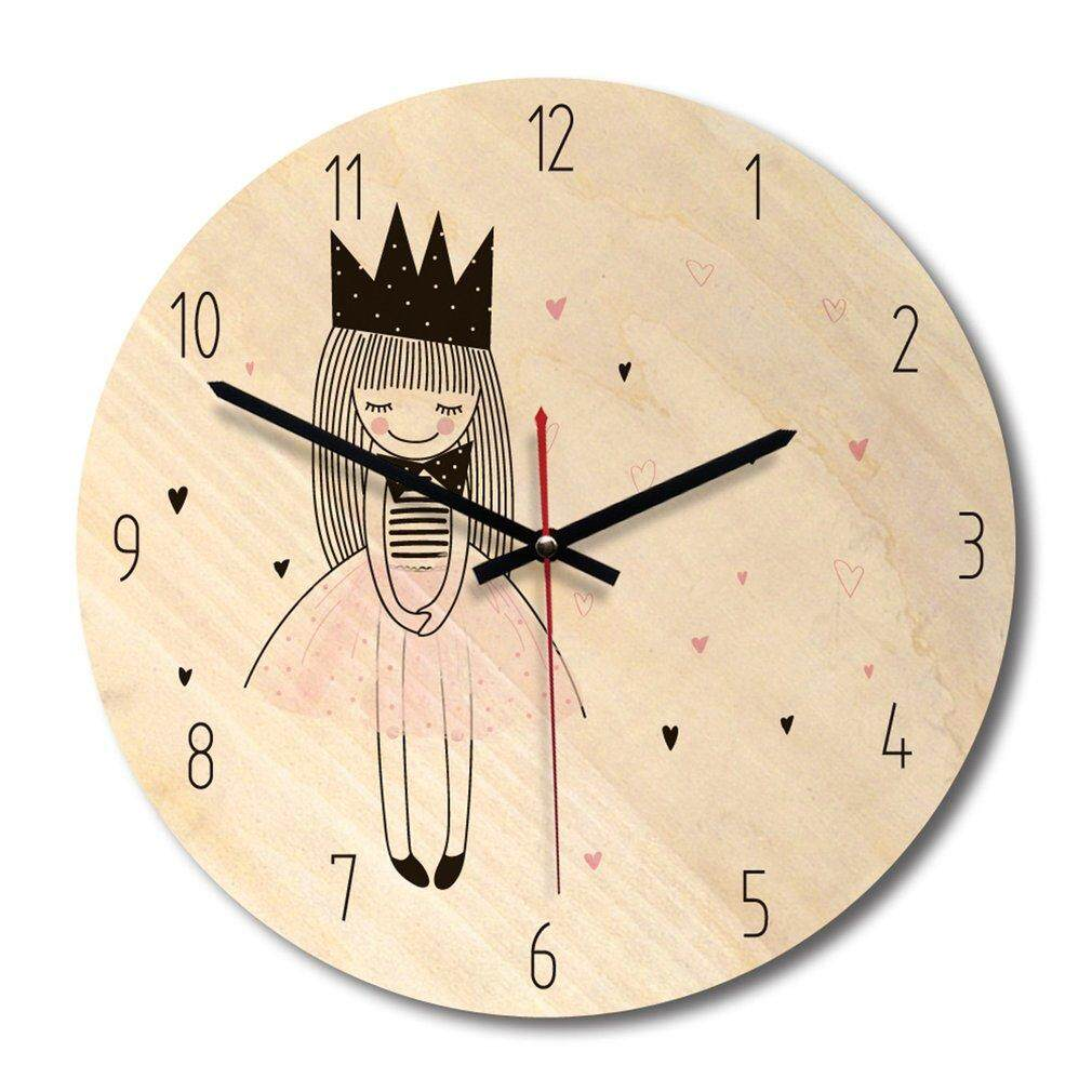 Promotion Printing Wooden Wall Clock Hot Style European Rural Drawing Clocks WPC014