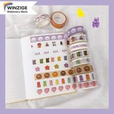 Winzige Một cuộn băng dán Washi bằng giấy in nhiều hình ảnh dễ thương để trang trí nhà cửa, sổ lưu niệm – INTL