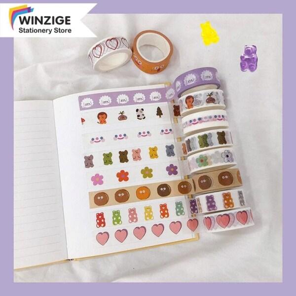Winzige Một cuộn băng dán Washi bằng giấy in nhiều hình ảnh dễ thương để trang trí nhà cửa, sổ lưu niệm