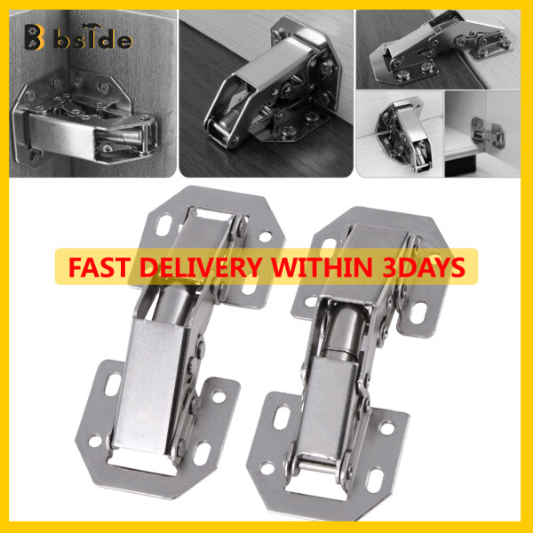 [Bside Tool Store] 10pcs 3in Bridge Shaped Spring Frog Cabinet Door Hinges No Drilling Hole {FreeShipping Within 3 DAYS}