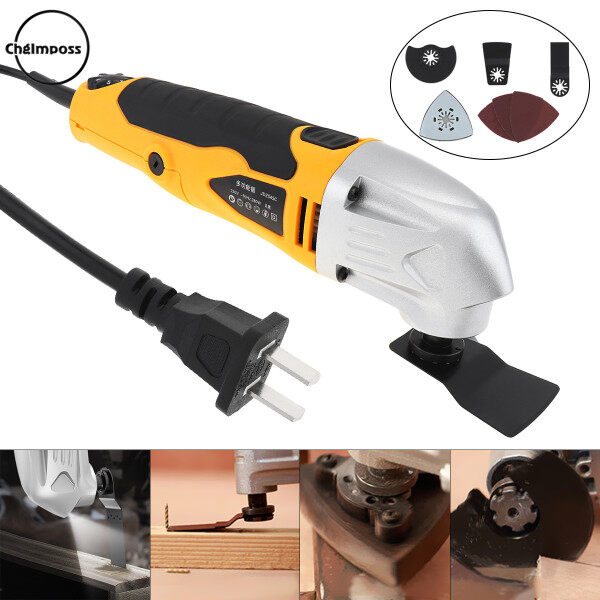 ChgImposs Electric Trimming Oscillating Machine 280W 220V 6-speed Hand-held LED Multi-function Cutting Tool for Woodworking / Plishing / Trepanning