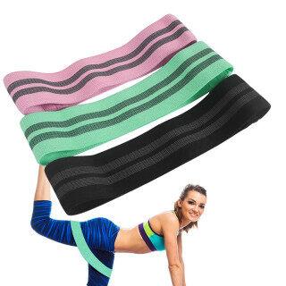 Đai Hông Đẹp Chống Trượt Băng Co Giãn Nâng Hông Lật Ngược Yoga Kéo Band3PC thumbnail