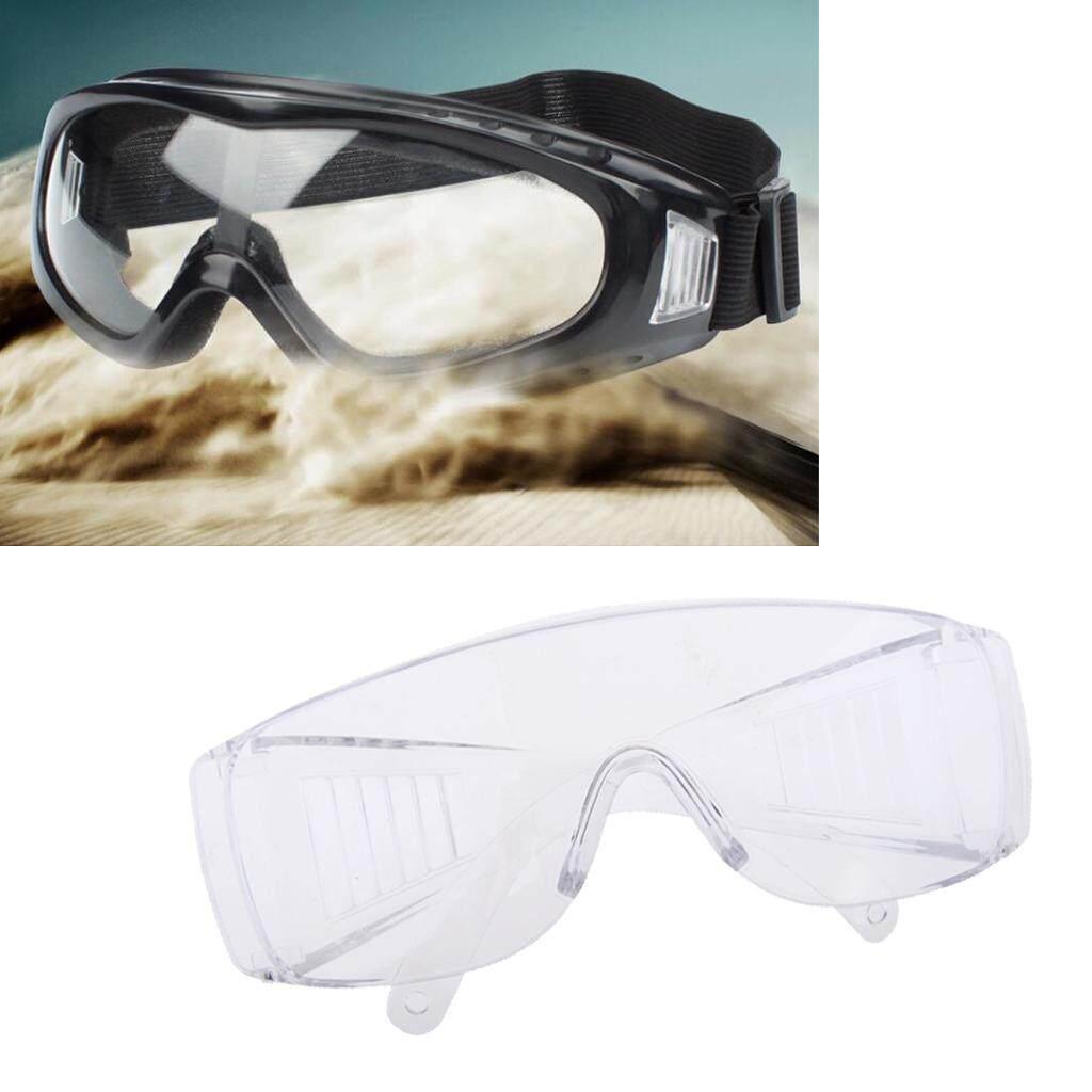 Blesiya Clear Anti-Fog Safety Goggles Workshop Dustproof Eyewear Black&Transparent