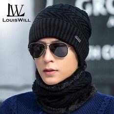 LouisWill mũ len nam Mũ len kèm khăn lót nỉ siêu ấmmũ len đẹp nón len mũ ấm mùa đông Mũ len hàn quốc mũ len nam kiểu hàn quốc mũ len nữ dễ thương