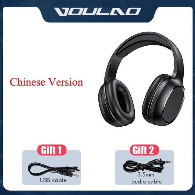 Bluetooth 5.0 Tai Nghe Tai Nghe Không Dây Âm Thanh Nổi 9D Có Thể Gập Lại Micro Tai Nghe Chơi Game Giảm Tiếng Ồn MP3 Cho Điện Thoại Di Động PC