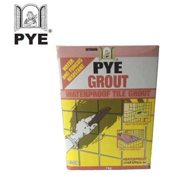 PYE Grout - Waterproof Tile Grout - 1kg (GREY)