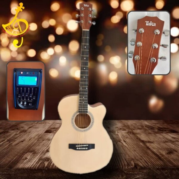 40 inch ACOUSTIC GUITAR 5Equalizer built-in Tuner free Pick (MATTE COLOUR) very clear PACKAGE 1/ PACKAGE 2 Malaysia