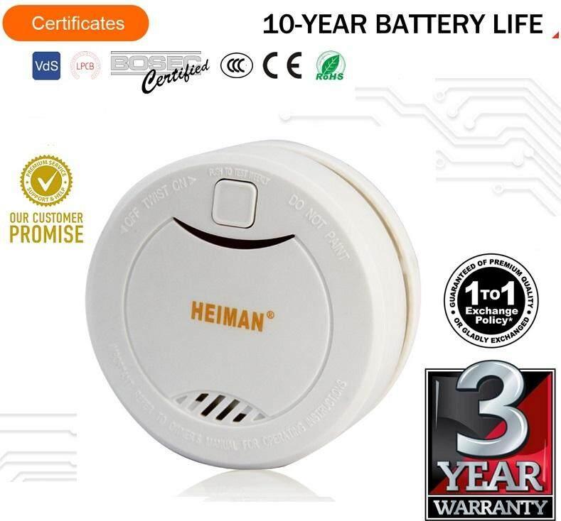 HEIMAN Smoke Detector 10 Years Battery Smoke Alarm With 3 Year Replacement Warranty