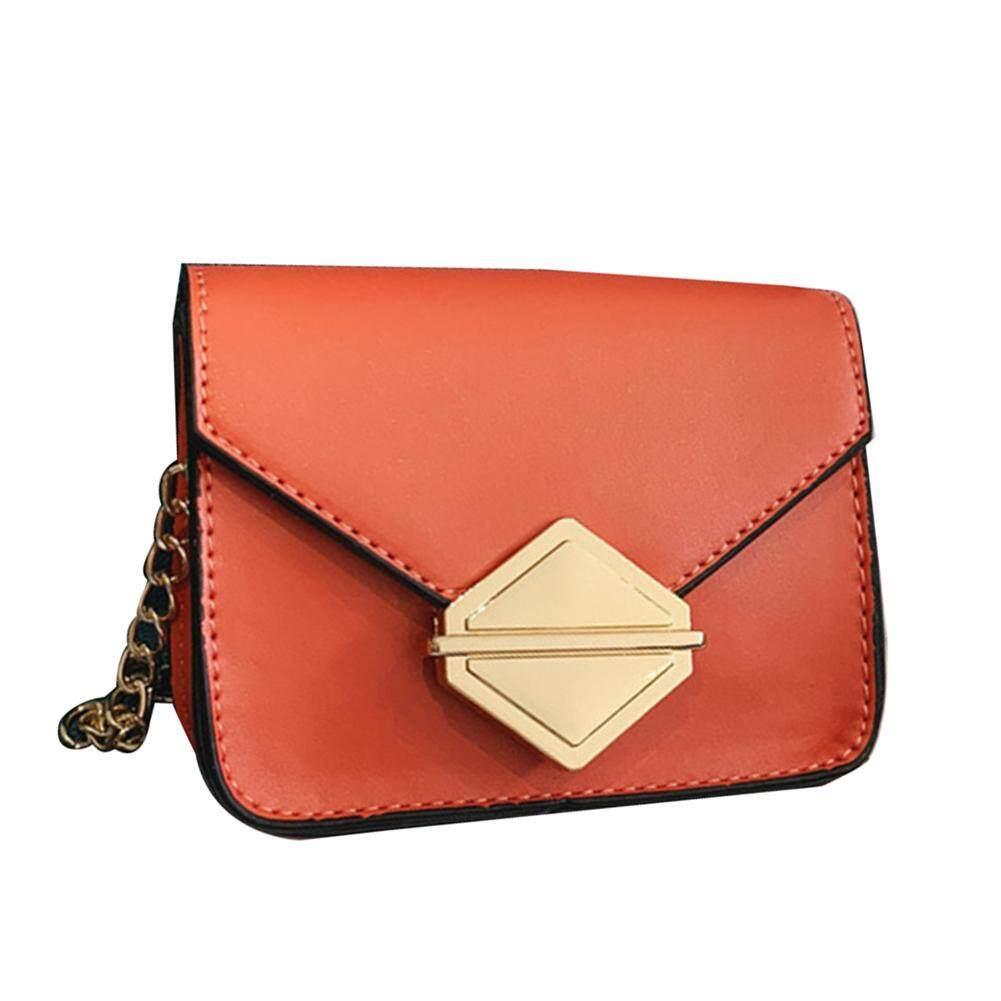 Fashionhead  Fashion Children Girl Rhombus Metal Hasp Faux Leather Crossbody Shoulder Bag