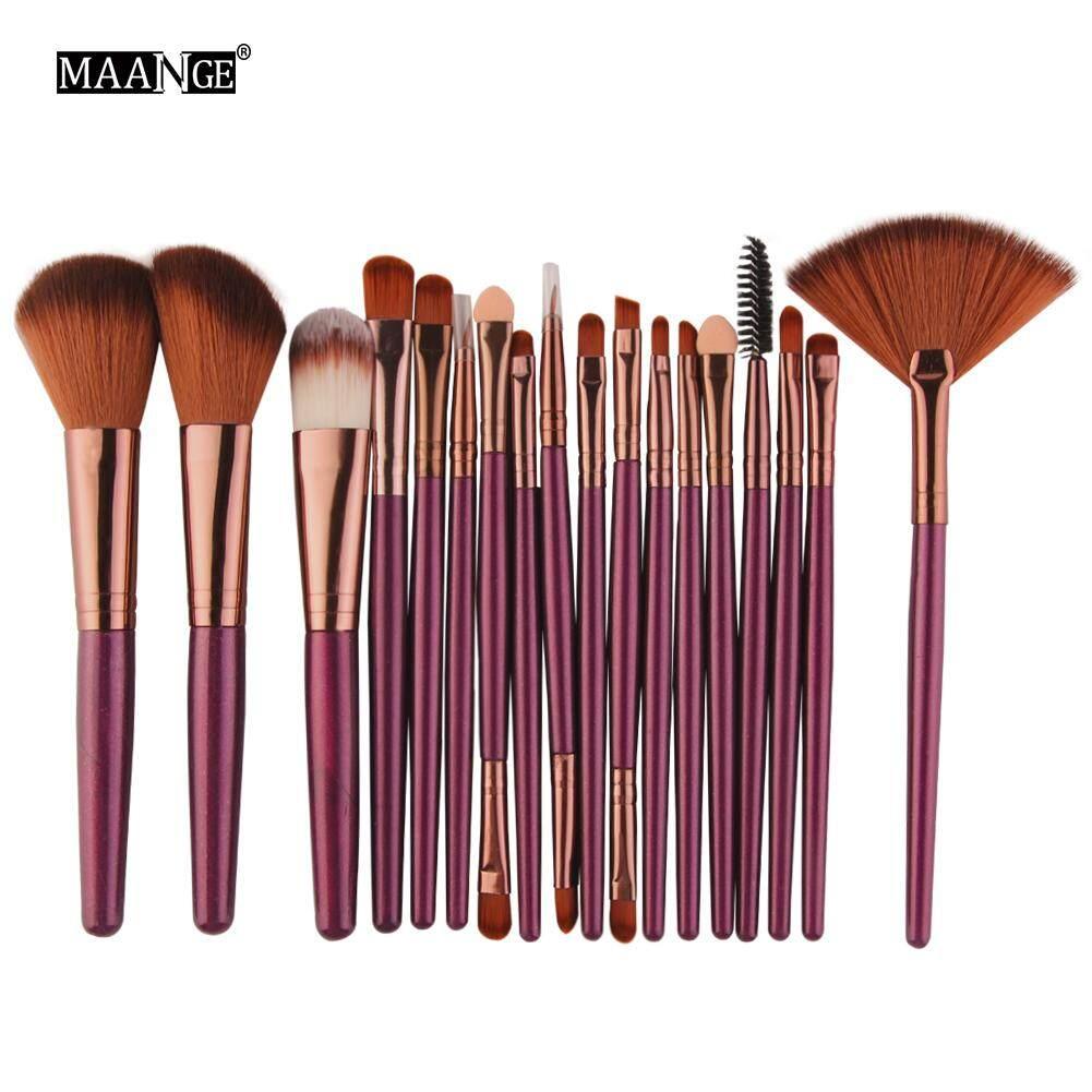 MAANGE 18Pcs Makeup Brushes Tool Set Cosmetic Powder Eye Shadow Foundation Blush Blending Beauty Make Up