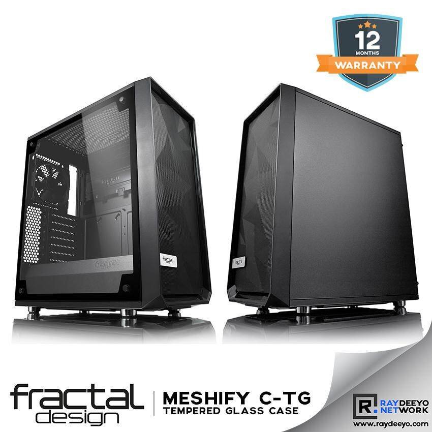 Fractal Design Meshify C Tempered Glass Chassis [ATX, Matx, Mini-ITX] Malaysia