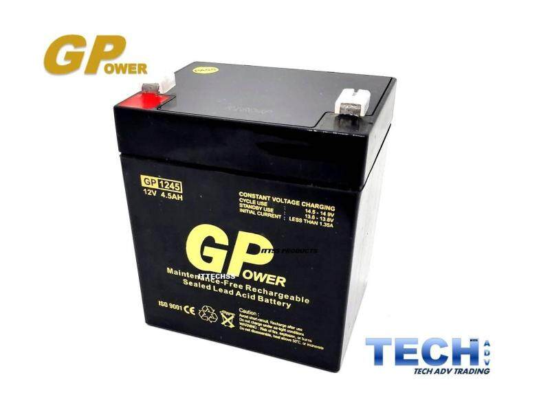 GPOWER 12V 4.5AH PREMIUM Rechargeable Sealed Lead Acid Battery For Electric Scooter/ Toys car / Bike /Solar /Alarm /Autogate/UPS/ Power Solution Malaysia
