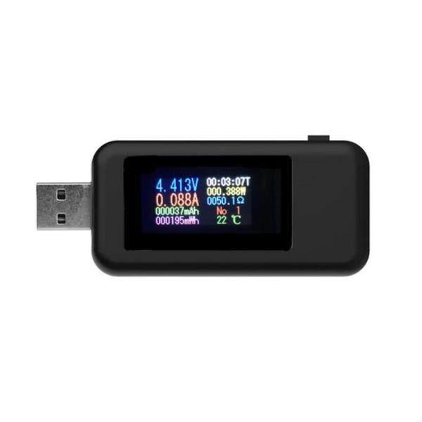 10 Trong 1 Hiển Thị Kỹ Thuật Số DC USB Tester Bộ Sạc Điện Áp Hiện Tại Vôn Kế