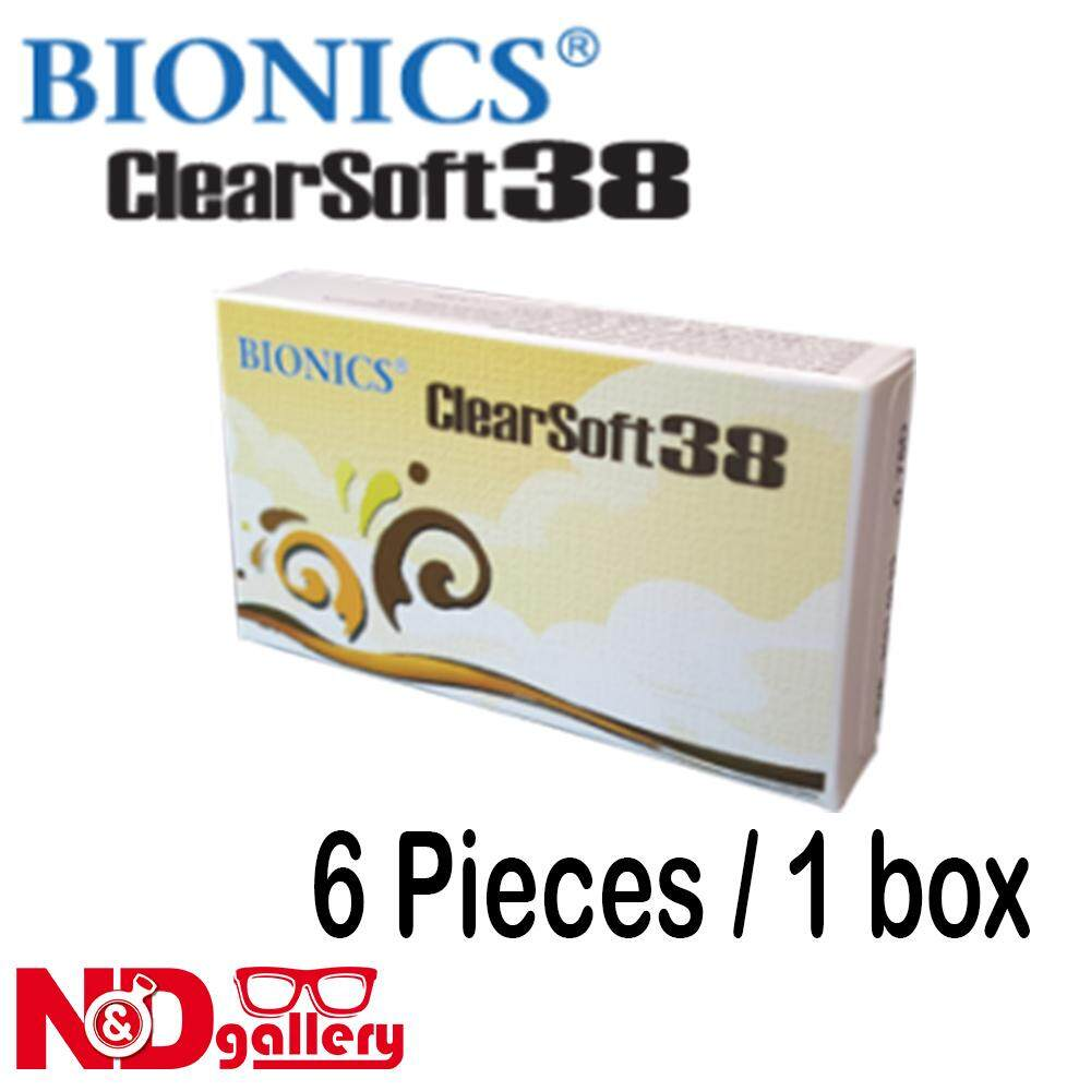 Bionics Clearsoft 38 Monthly Disposable Clear Contact Lens , 6pcs -0.50 to -15.00 DS