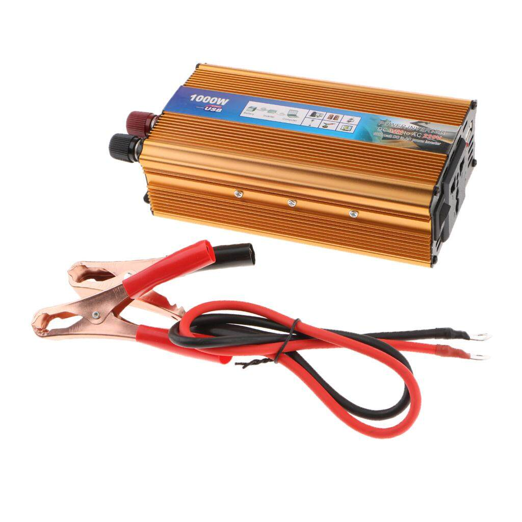 Blesiya 1000W Solar Power Inverter DC 12V to 220V Car Inverter Voltage Transformer