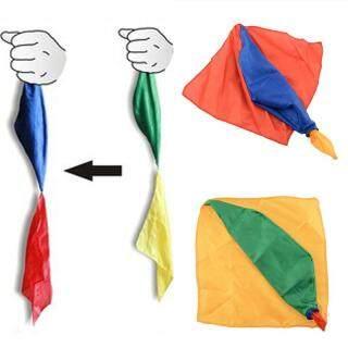 HJ 1 Pcs Change Color Silk Magic Trick Joke Props Tools Magician Supplies Toys thumbnail