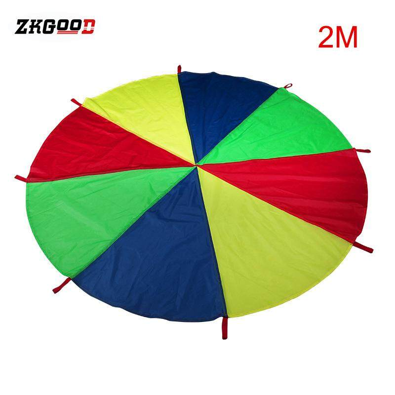 zkgood Kids Parachute Toy with Handles Play Parachute Tent Mat Cooperative Games Birthday Gift image