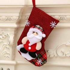 Móc Treo Vớ Giáng Sinh Vớ Quà Giáng Sinh Túi Quà Tặng Kẹo Ông Già Noel Trang Trí