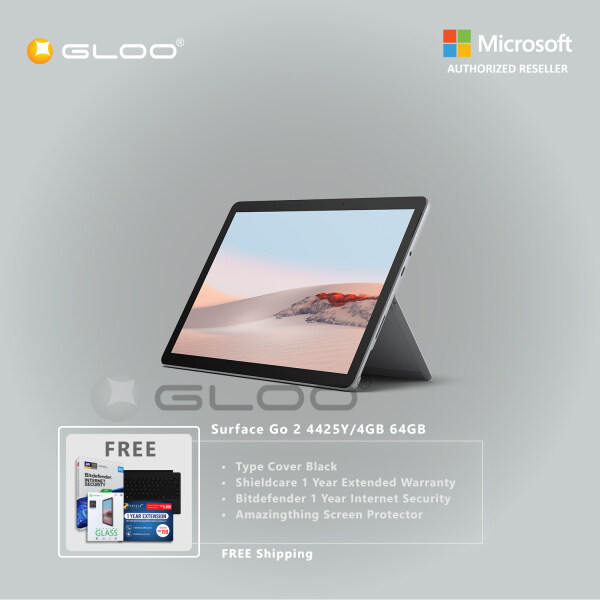 [Pre-Sales] Microsoft Surface Go 2 4425Y/4GB 64GB + Surface Go Type Cover Black + Shield Care 1 Year Extended Warranty + Bitdenfender 1 Year Internet Security + Amazingthing Screen Protector Malaysia