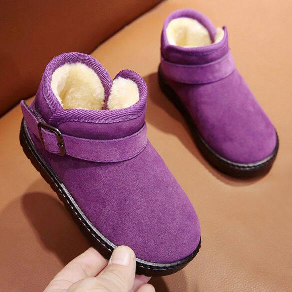 Bốt Đi Tuyết Cho Trẻ Em, Giày Ấm, Giày Lớn Màu Đỏ Và Đen, Bốt Cotton, Giày Chống Trượt Dành Cho Phụ Huynh Và Trẻ Em, Giày Đi Tuyết Dày Lót Nhung Vào Mùa Đông giá rẻ