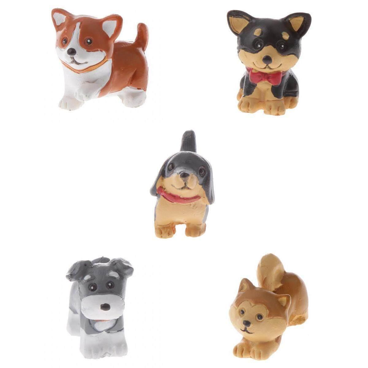 Loviver Assorted Dog Miniature Figurine Landscape Yard Pot Bonsai DIY Decor Craft