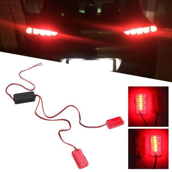 Cặp Đèn LED Đuôi Xe Máy 12V Nhấp Nháy Đèn Nhấp Nháy Cảnh Báo Biển Số Đèn Đỏ
