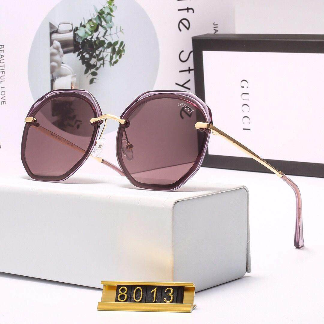 GucciS_ Polarizing solar polygons personality sunglasses female network celebrities the same type of large frame round face thin glasses