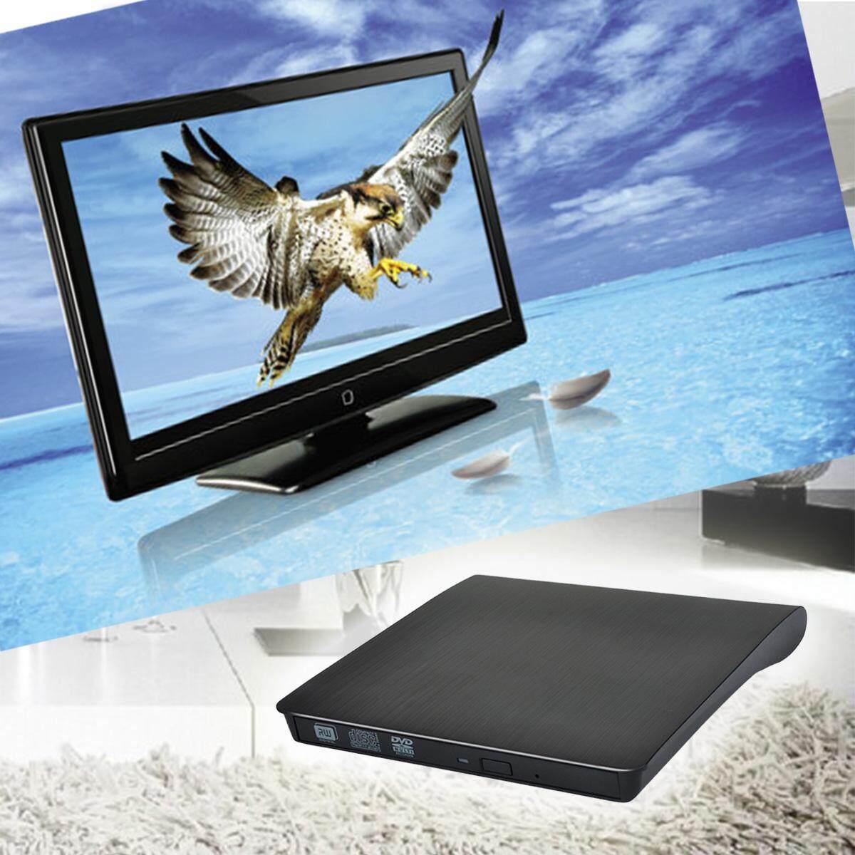 Slim External USB 3.0 CD DVD DVDRW Burner Writer Drive for Laptop Black