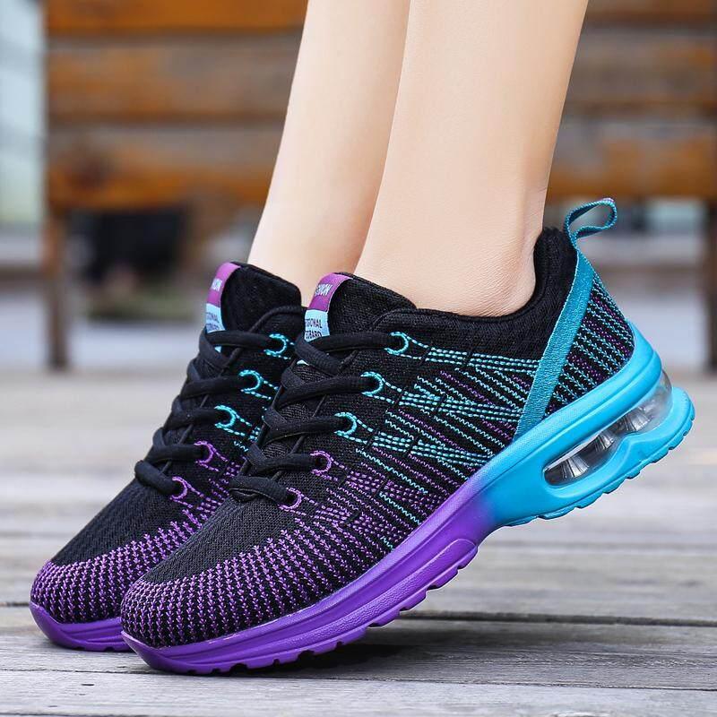 24fe0622e6 Dunlunp 2019 Summer New Flying Woven Casual Sports Women's Shoes Fashion  Wild Casual Running Shoes