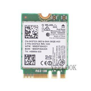 Thẻ Wifi Wireless-AC 7265 7265NGW 7265AC Băng Tần Kép 2.4G 5GHz 802.11ac 2X2 300Mbps + 867Mbps + BT 4.0 NGFF M.2 thumbnail