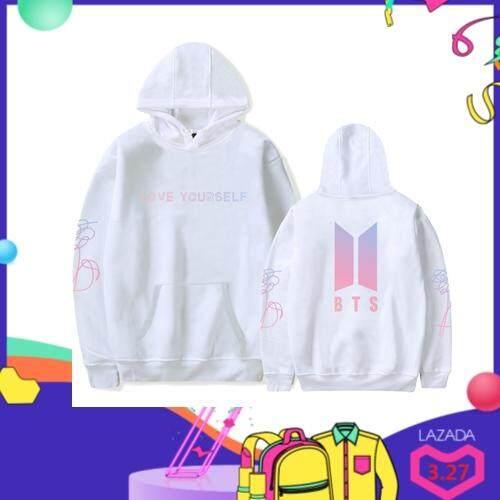 3663f97547aa BTS HOODIES Korea BTS Hoodie Men Women Love Yourself Blouse Ready Stock Coat