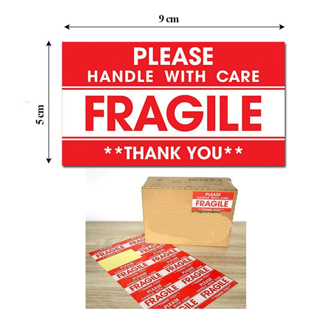 ขายส่งและขายปลีก 1000 ชิ้น/ล็อต 9x5 ซม. เปราะบางสติกเกอร์สำหรับกล่อง, Courier, Express By 3eleadstar.