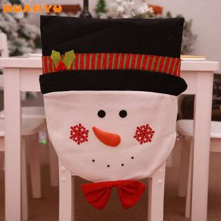 HUANYU01 Bọc Ghế Giáng Sinh, Bọc Ghế Ăn Ông Già Noel Người Tuyết Trang Trí Nhà Bếp Tiệc Giáng Sinh thumbnail