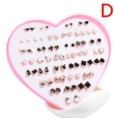 Zhangdunguo 36 Đôi Nữ Thời Trang Bé Gái Pha Lê Diamante Hoa Bông Tai Đinh Bộ Trang Sức