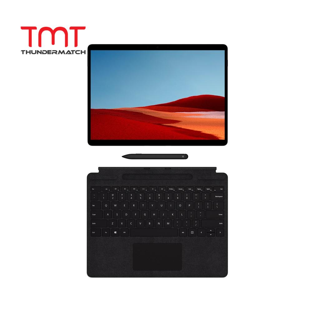 Microsoft Surface Pro X - Black with Type Cover Keyboard & Surface Slim PEN  (LTE-Nano Sim) ( Microsoft SQ1 Qualcomm 7nm 3GHz, 8GB Ram, 128GB SSD, 13  Touch, W10 ) ( MJX-00009 ) Malaysia