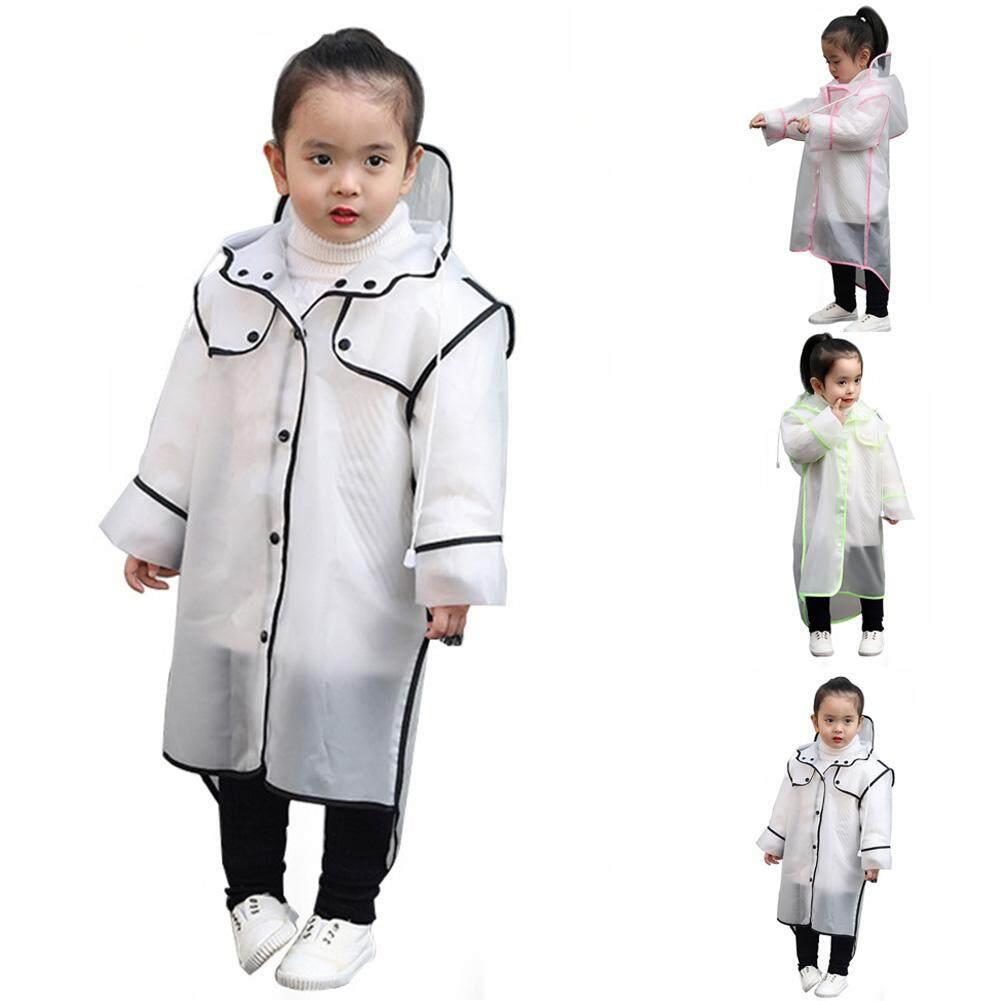 EVA Windproof Poncho Kids Rainwear Transparent Waterproof Children/'s Raincoat