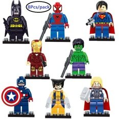 Betterservice 8pcs Superhero Avengers Figures Buiding Blocks mini hero Building Bricks Compatible with Lepining Action Figure toy set for Preschool Children Ages 3+ Kids