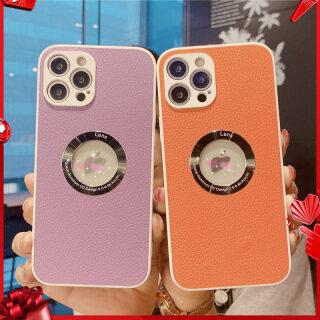 Ốp Điện Thoại Di Động Có Nhãn Mở Trong Suốt Họa Tiết Vải Thiều Cao Cấp Màu Kẹo Ngọt, Dành Cho IPhone 12 Pro Max 12 Mini XR XS Max 7 8 Plus 11 Pro Max Ốp Bảo Vệ Ống Kính Chống Sốc thumbnail
