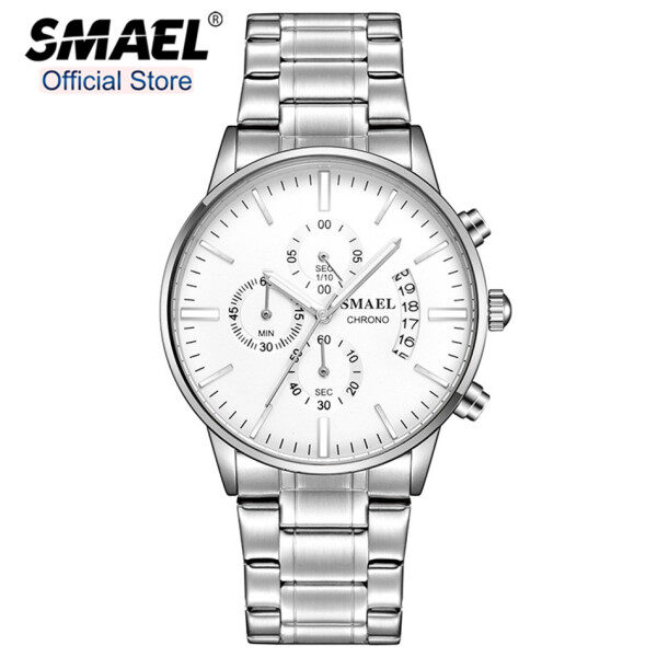 SMAEL Top Brand Luxury Mens Watches Fashion Waterproof Business All Steel Quartz Clock Men Casual Sport Date Military Watch Malaysia