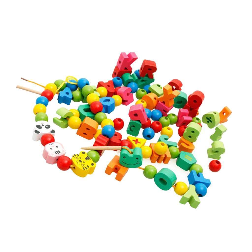 BolehDeals Lacing Beads Stringing Bead Set Toddlers Early Development Montessori Toys