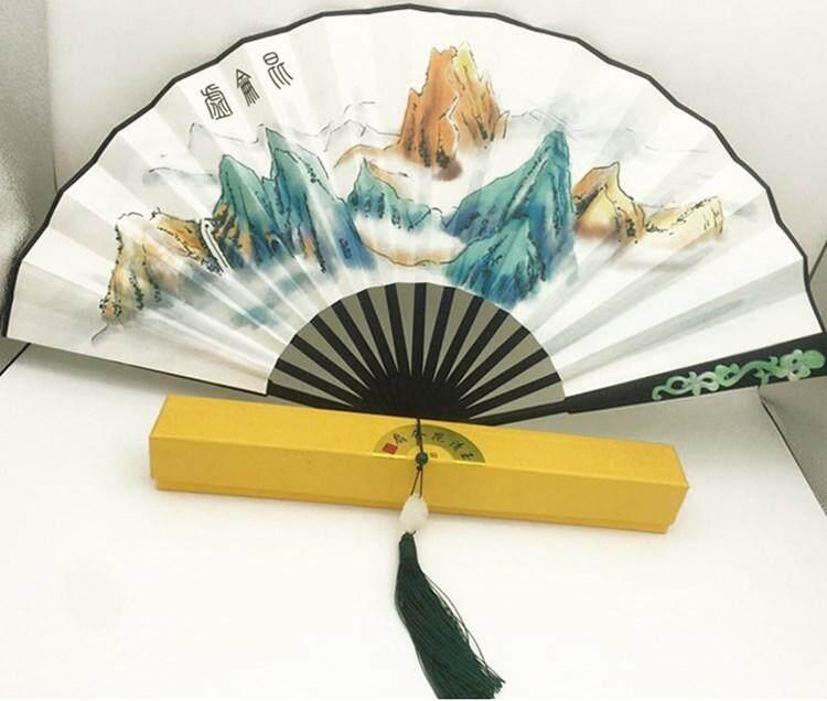 Yang Mi Props Fan White Shallow Junior III Celebrity Style Yuqing CORUM Fan Folding Fan Ancient Costume Photography Ten Peach Blossom