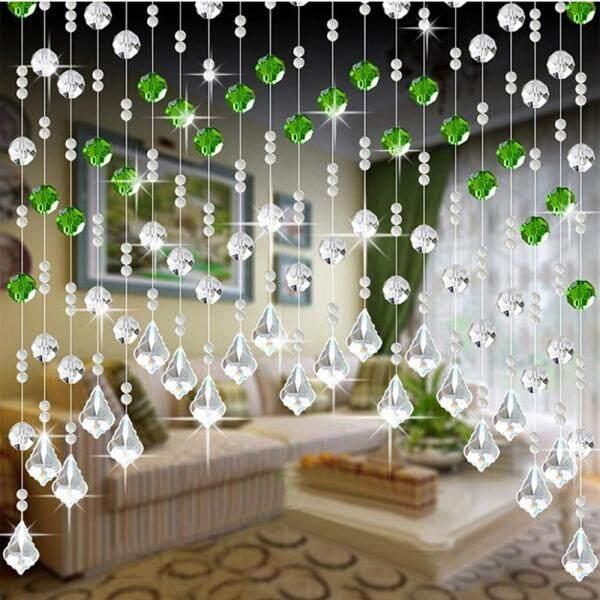 [Matatatshop] Kaca Kaca Kristal Manik Tirai Mewah Bilik Tidur Bilik Tidur Bilik Tidur Pintu Hiasan Perkahwinan