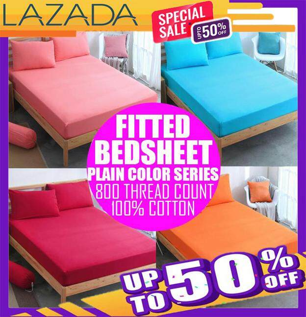 Premium single 2 in 1 queen 4 in 1 Plain Cadar Bedsheet Queen Size Fitted  Bedsheet free shipping (MIMKO)