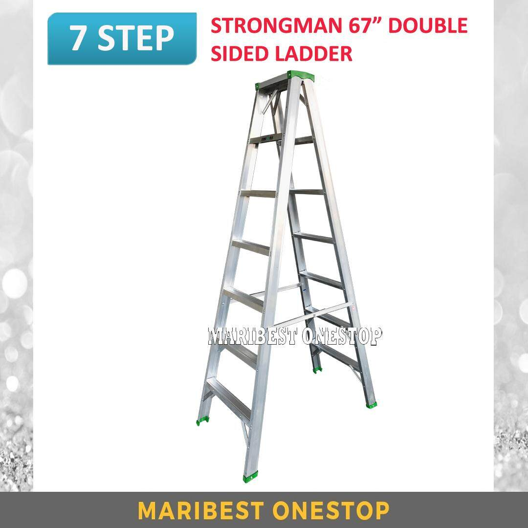 "STRONGMAN DS7 67"" Aluminium Double Sided 7 Steps Ladder"