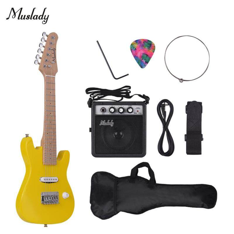 Muslady 28 Inch Kids Children ST Electric Guitar Kit Maple Neck Paulownia Body with Mini Amplifier Guitar Bag Strap Pick String Au-dio Cable Right-Handed Style Malaysia
