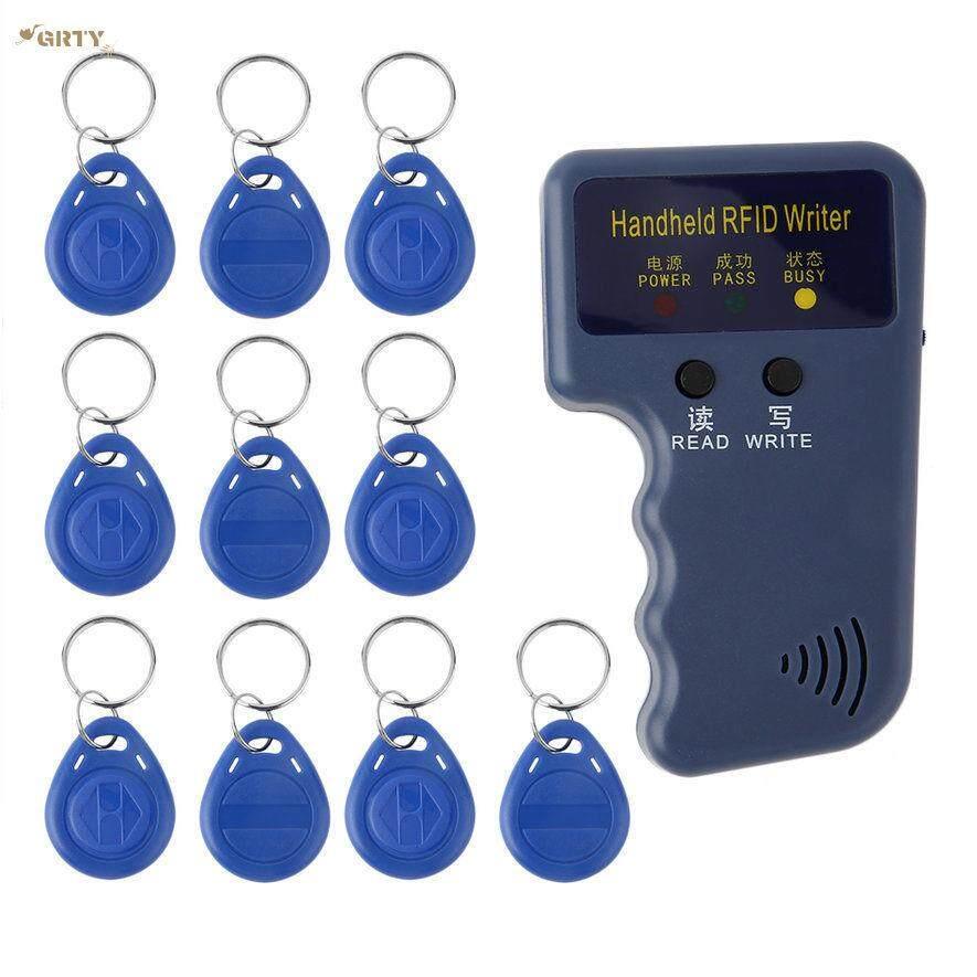 Grty (Bán Buôn Có Thể Mặc Cả) 125 Khz Cầm Tay RFID Nhà Văn/Photocopy/Độc Giả/Duplicator Với 10 Miếng ID Thẻ