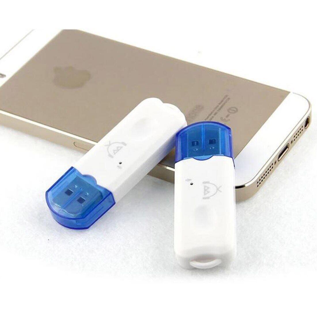 Etmakit Bộ Chuyển Đổi Thu Âm Thanh Bluetooth V2.1 Không Dây Di Động USB Màu Xanh Dương, Rảnh Tay DEC28